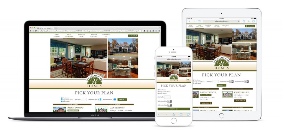 Williamsburg Homes Website