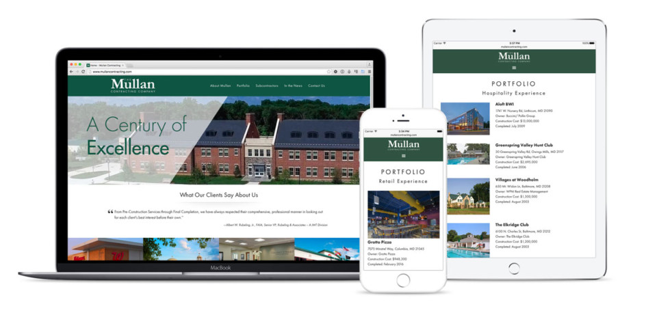 Mullan Contracting Website