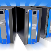 Illustration of computer servers